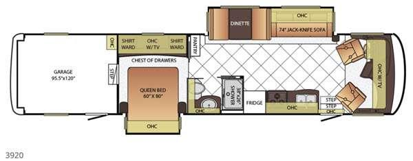 Floorplan - 2016 Newmar Canyon Star 3920
