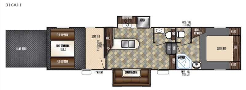 Floorplan - 2016 Forest River RV Vengeance Super Sport 316A11
