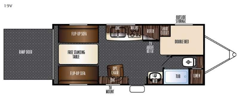 Floorplan - 2016 Forest River RV Vengeance Super Sport 19V