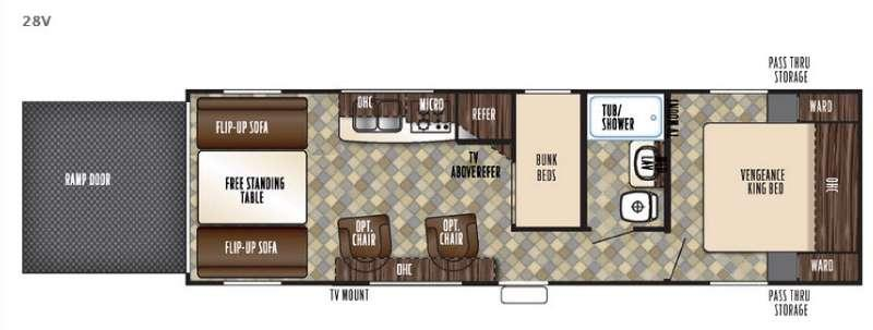 Floorplan - 2016 Forest River RV Vengeance Super Sport 28V