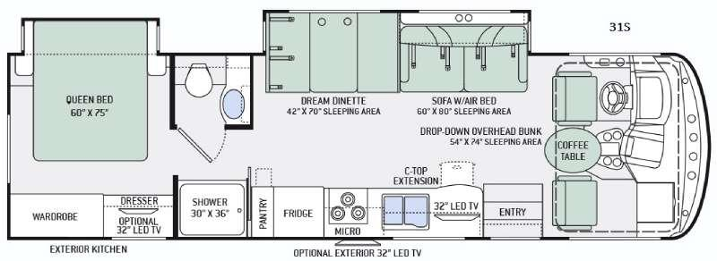 Hurricane 31S Floorplan Image