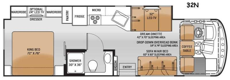 Hurricane 32N Floorplan Image