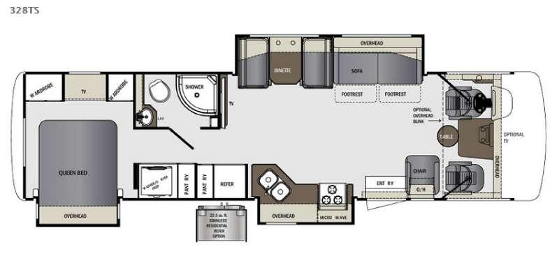 Floorplan - 2016 Forest River RV Georgetown 328TS
