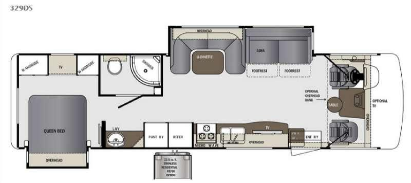 Floorplan - 2016 Forest River RV Georgetown 329DS