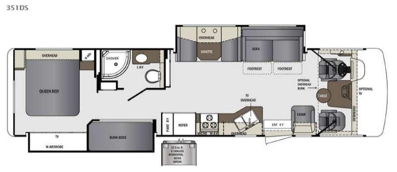 Floorplan - 2016 Forest River RV Georgetown 351DS