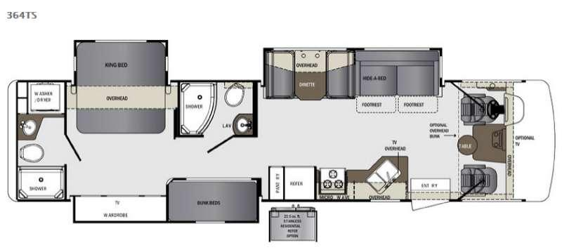 Floorplan - 2016 Forest River RV Georgetown 364TS