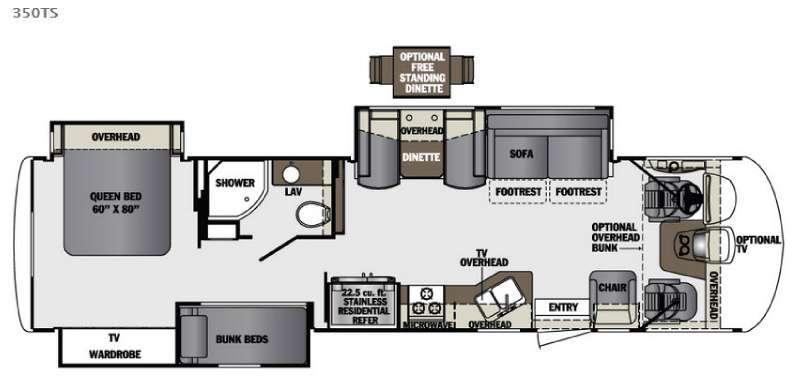 Floorplan - 2016 Forest River RV Georgetown XL 350TS