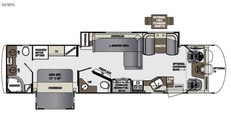 Floorplan - 2016 Forest River RV Georgetown XL 369DS