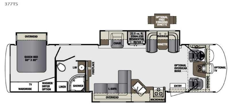 Floorplan - 2016 Forest River RV Georgetown XL 377TS