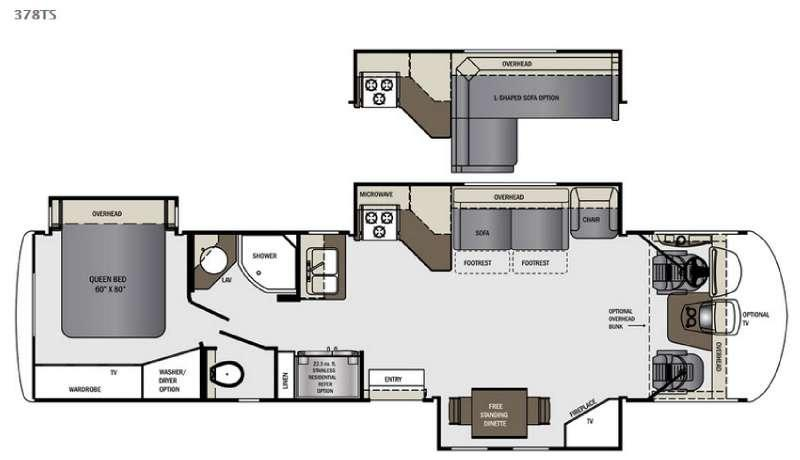 Floorplan - 2016 Forest River RV Georgetown XL 378TS
