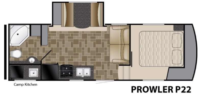 Floorplan - 2016 Heartland Prowler P22