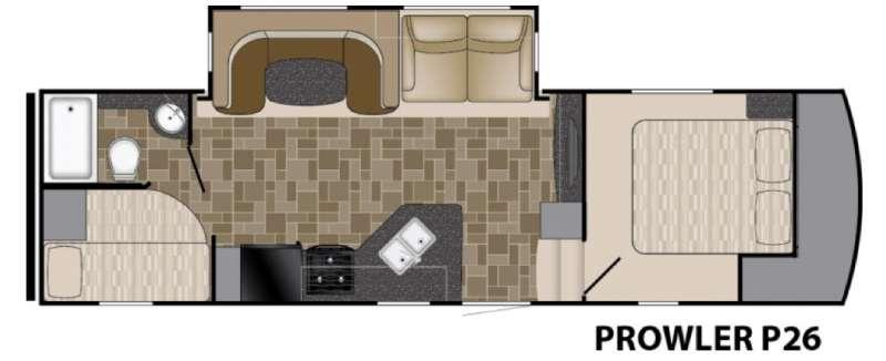 Floorplan - 2016 Heartland Prowler P26