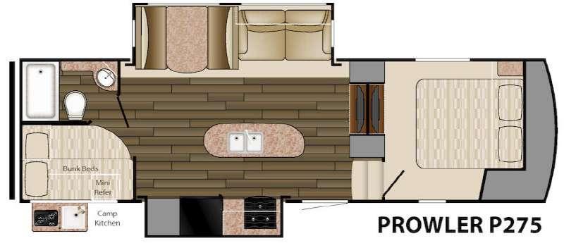 Floorplan - 2016 Heartland Prowler P275