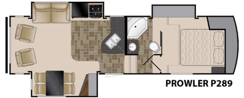 Floorplan - 2016 Heartland Prowler P289