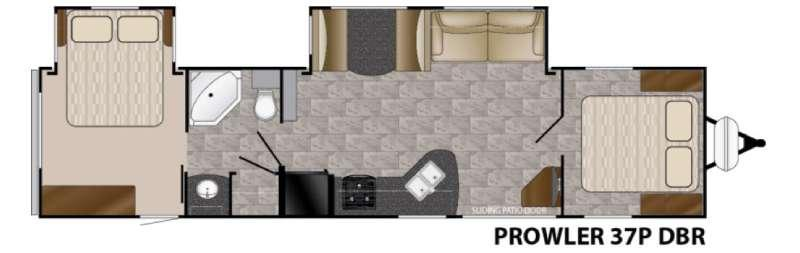 Floorplan - 2016 Heartland Prowler 37P DBR