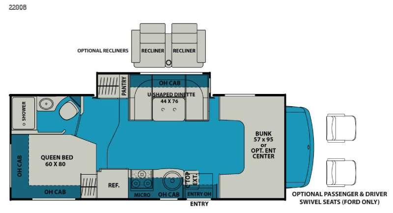Leprechaun 220QB Chevy 4500 Floorplan Image