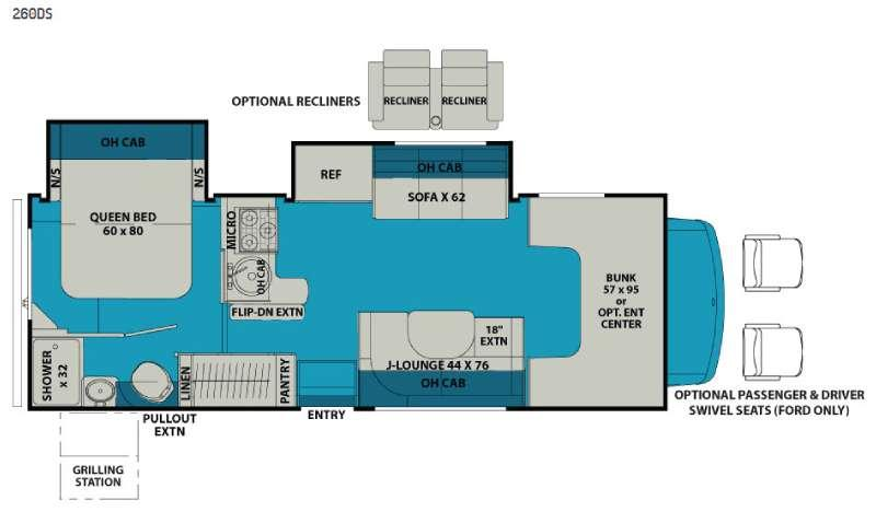 Leprechaun 260DS Chevy 4500 Floorplan Image