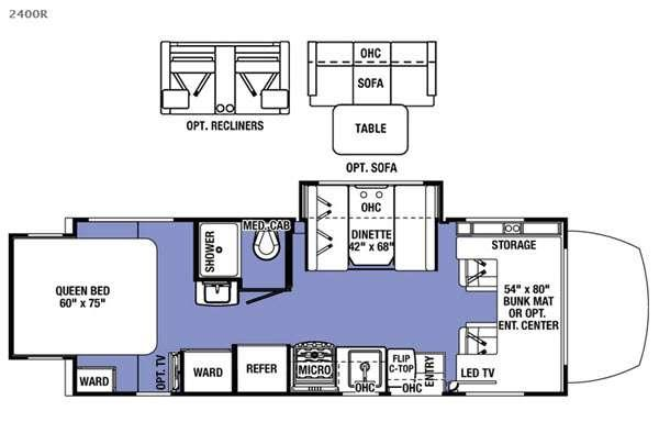 Floorplan - 2016 Forest River RV Sunseeker MBS 2400R
