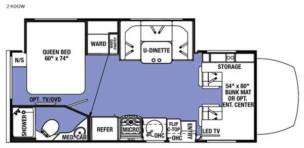 Floorplan - 2016 Forest River RV Sunseeker MBS 2400W