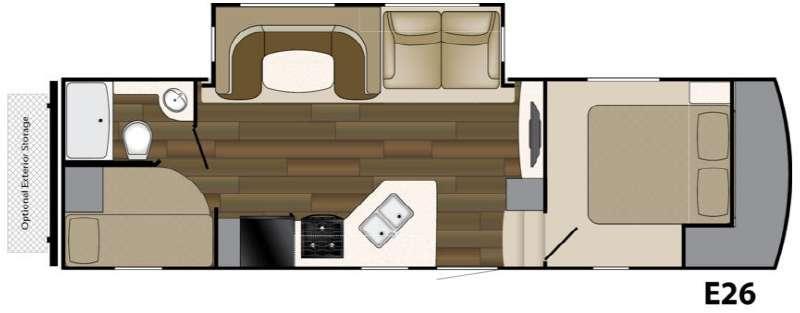 Floorplan - 2016 Heartland ElkRidge Xtreme Light E26