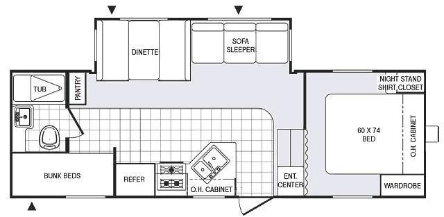Floorplan - 2007 Palomino Puma 249-RBSS