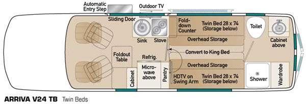 Floorplan - 2015 Coach House Arriva V24 TB