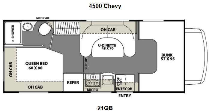 Floorplan - 2016 Coachmen RV Freelander 21QB  Chevy 4500