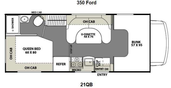 Floorplan - 2016 Coachmen RV Freelander 21QB  Ford 350