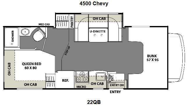 Floorplan - 2016 Coachmen RV Freelander 22QB Chevy 4500