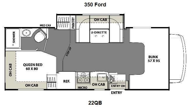 Floorplan - 2016 Coachmen RV Freelander 22QB Ford 350