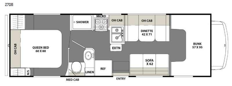 Floorplan - 2016 Coachmen RV Freelander 27QB Chevy 4500