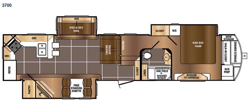 Floorplan - 2016 Prime Time RV Sanibel 3700
