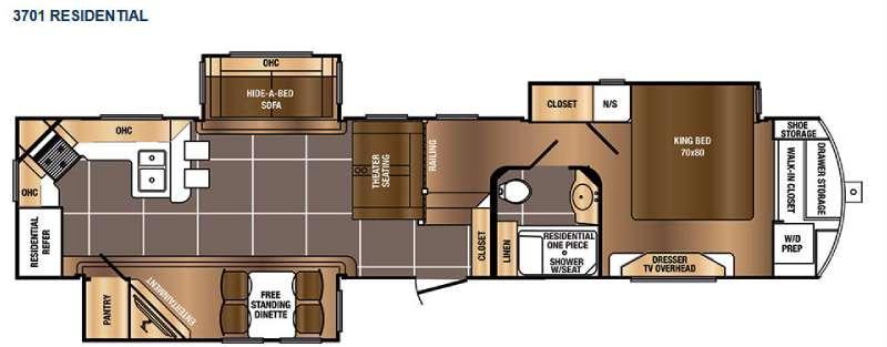 Floorplan - 2016 Prime Time RV Sanibel 3701