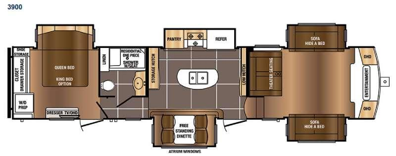 Floorplan - 2016 Prime Time RV Sanibel 3900