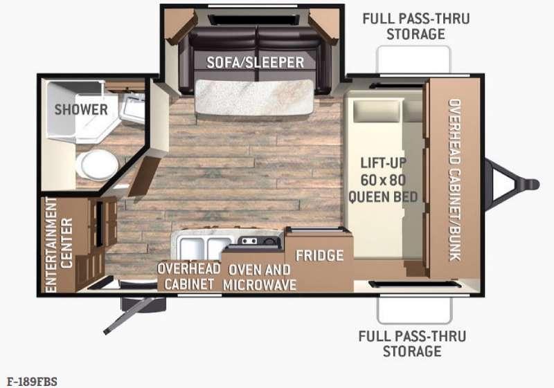 Fun Finder F-189FBS Floorplan Image