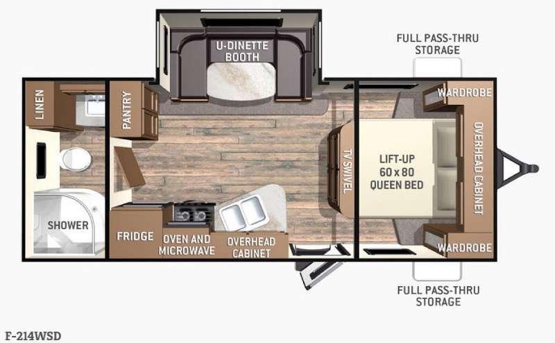 Fun Finder F-214WSD Floorplan Image