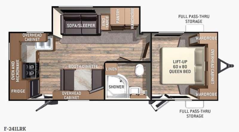 Floorplan - 2016 Cruiser Fun Finder F-241LRK