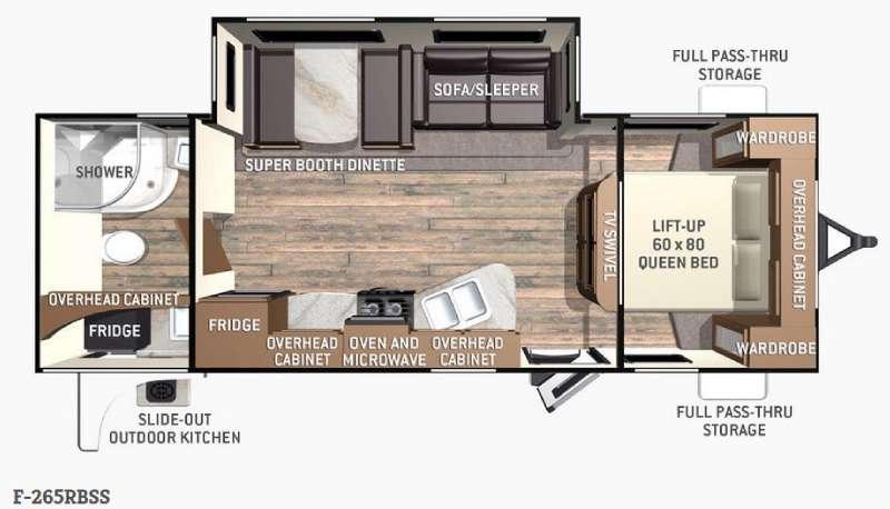 Fun Finder F-265RBSS Floorplan Image