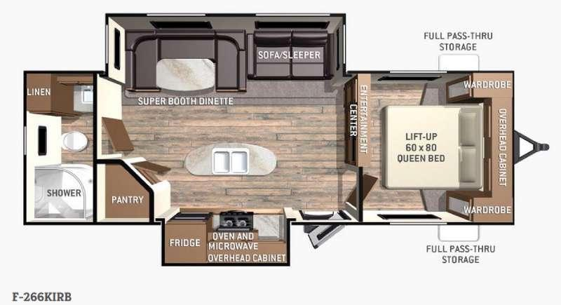 Fun Finder F-266KIRB Floorplan Image