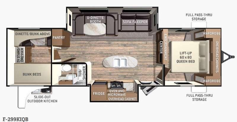 Fun Finder F-299KIQB Floorplan Image