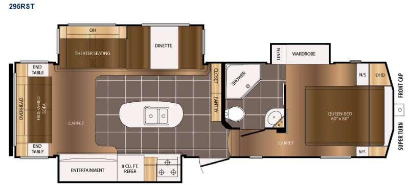 Floorplan - 2016 Prime Time RV Crusader 295RST