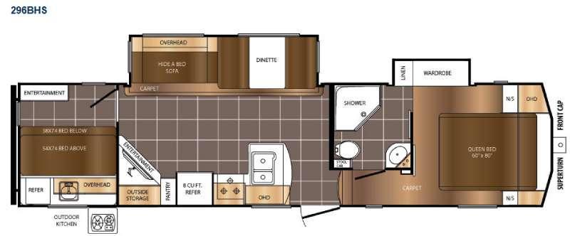 Crusader 296BHS Floorplan Image