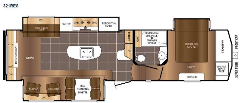Floorplan - 2016 Prime Time RV Crusader 321RES