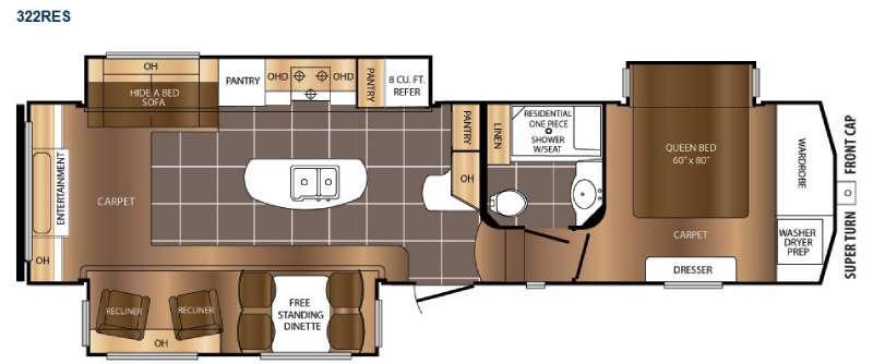 Crusader 322RES Floorplan Image