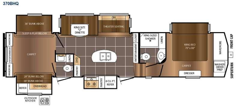 Crusader 370BHQ Floorplan Image