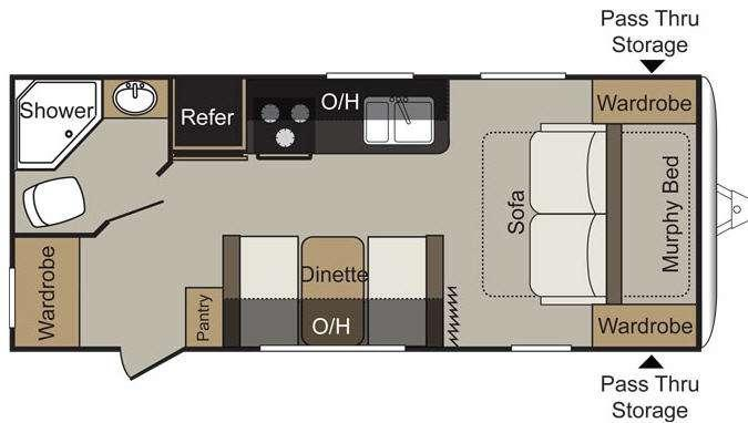 Floorplan - 2016 Keystone RV Passport 195RB Express