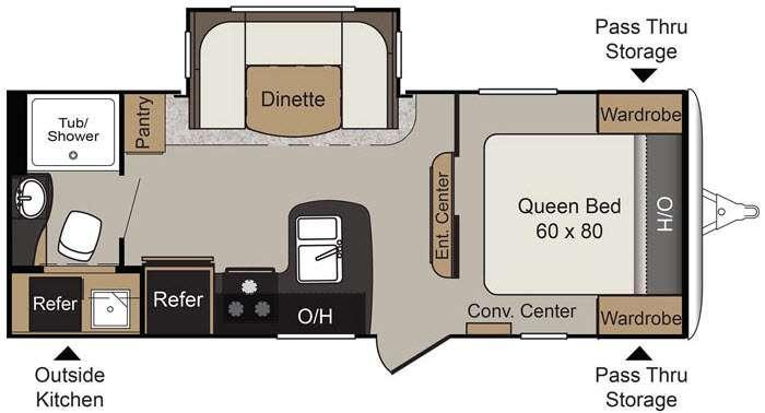 Floorplan - 2016 Keystone RV Passport 2250RB Grand Touring