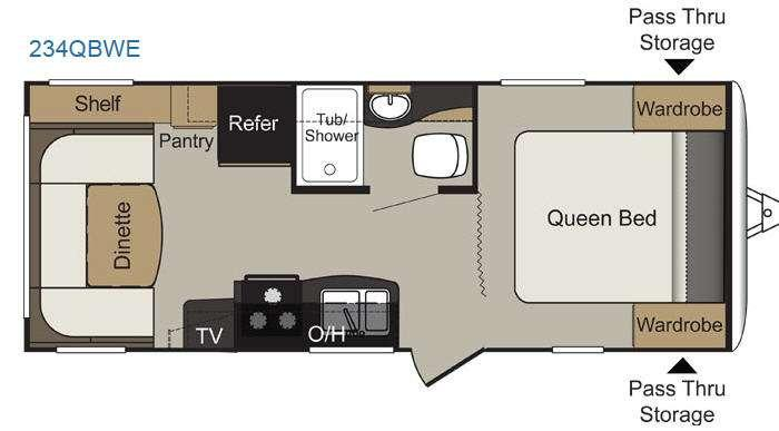 Floorplan - 2016 Keystone RV Passport 234QBWE Express