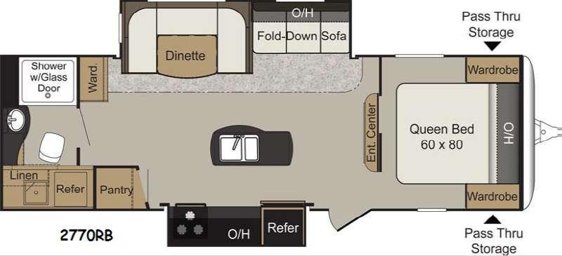 Floorplan - 2016 Keystone RV Passport 2770RB Grand Touring