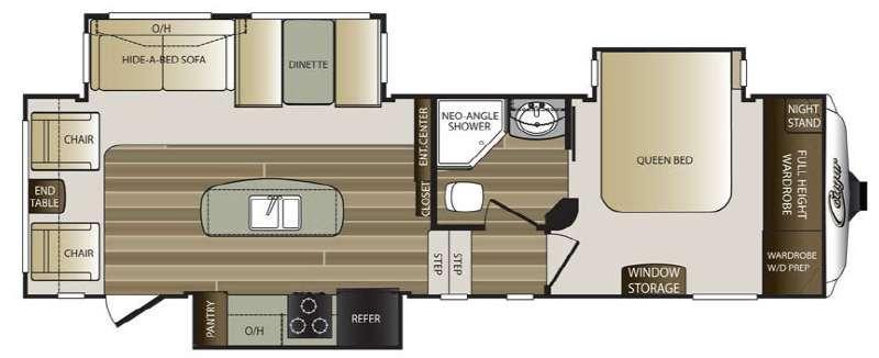 Floorplan - 2016 Keystone RV Cougar 280RLS